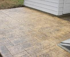 regal ashlar stamped concrete patio