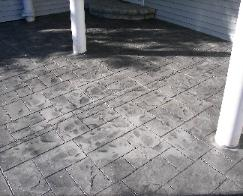 stamped concrete entrance