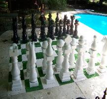 Acid stain chess board